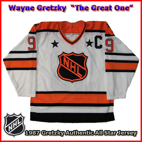 Wayne Gretzky 1987 NHL Authentic Style All Star Game Jersey - Custom ... d7c2d8b9525