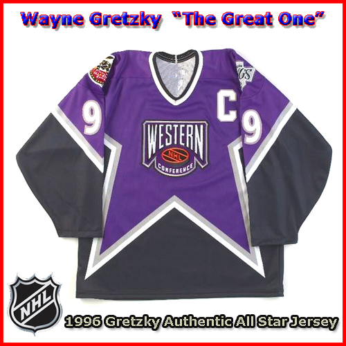 20a4159b5d1 Wayne Gretzky 1996 NHL Authentic Style All Star Game Jersey - Custom ...