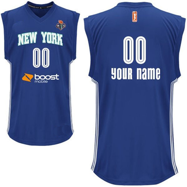 WNBA New York Liberty Authentic Design Ladies Blue Jersey (Custom or Blank) add9cbf89