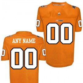 CFL Custom BC Lions Premier TC Orange Football Jersey