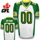 CFL Custom Edmonton Eskimos Premier TC White Football Jersey