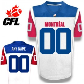 CFL Custom Montreal Alouettes Premier TC White Football Jersey