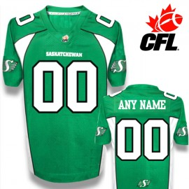 CFL Custom Saskatchewan Roughriders Premier TC Green Football Jersey
