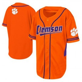 Clemson Tigers Orange Type 2 NCAA College Baseball Jersey