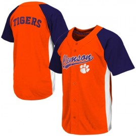 Clemson Tigers Orange Purple NCAA College Baseball Jersey