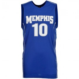 Memphis Tigers NCAA College Blue Style 2 Basketball Jersey