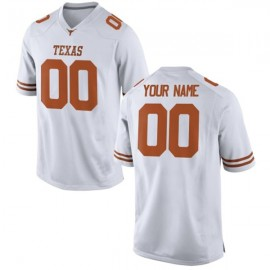 Texas Longhorns White NCAA College Football Jersey