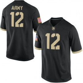 USMA West Point Black Knights NCAA Black Football Jersey