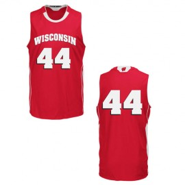 Wisconsin Badgers NCAA College Red Basketball Jersey