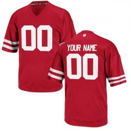 Wisconsin Badgers Red NCAA College Football Jersey