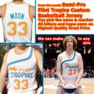Jackie Moon Wil Ferrell Tropics Semi-Pro Authentic Basketball Jersey