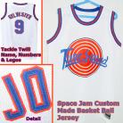 SYLVESTER 9 Space Jam Tune Squad White Movie Jersey