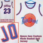 Michael Jordan #23 Space Jam Custom Tune Squad White Jersey