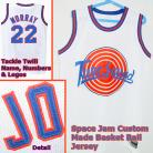 BILL MURRAY 22 Space Jam Tune Squad White Movie Jersey