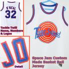 Shaq O'Neal 32 Space Jam Tune Squad White Movie Jersey