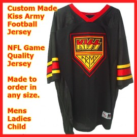 Kiss Army Destroyer 73 Custom Personalized Football Jersey