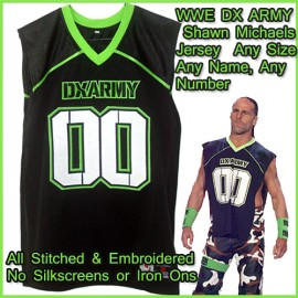WWE D Generation DX Army Triple H Shawn Michaels Jersey