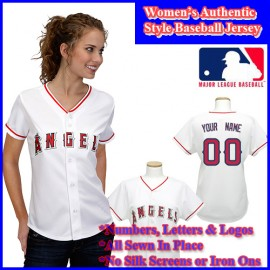 LA  Angels of Anaheim Authentic Personalized Women's White Jersey
