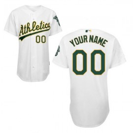 Oakland Athletics Authentic Style Personalized Home White Jersey
