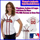 Atlanta Braves Authentic Personalized Women's White Jersey