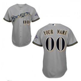 Milwaukee Brewers Authentic Style Personalized Road Gray Jersey