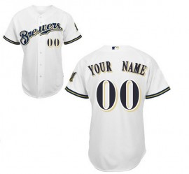 Milwaukee Brewers Authentic Style Personalized Home White Jersey