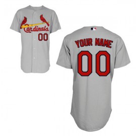 St. Louis Cardinals Authentic Style Personalized Road  Gray Jersey