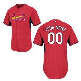 St. Louis Cardinals Authentic Style  Personalized BP Red Jersey