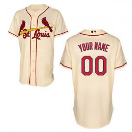 St. Louis Cardinals Authentic Style Personalized Alt Home White Jersey