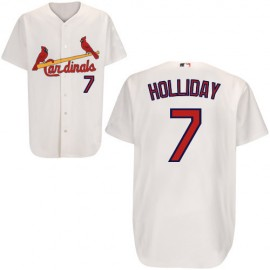 St. Louis Cardinals Authentic Style White Home Jersey #7 Matt Holliday