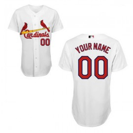 St. Louis Cardinals Authentic Style Personalized Home White Jersey