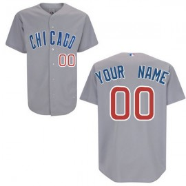 Chicago Cubs Authentic Style Personalized Road Gray Jersey