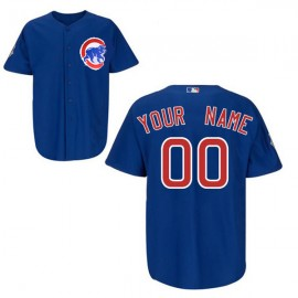 Chicago Cubs Authentic Style Personalized Alternate Blue Jersey