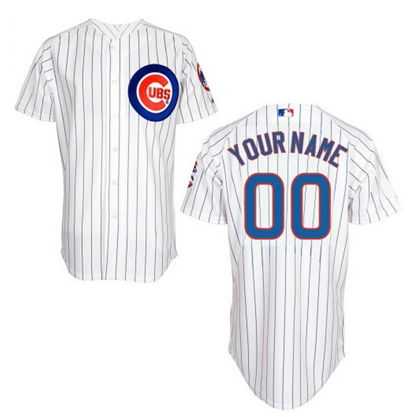 a11ec0ce3e0 Chicago Cubs Authentic Style Personalized Home Pinstriped Jersey