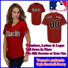 Arizona Diamondbacks Authentic Personalized Women's Red Jersey