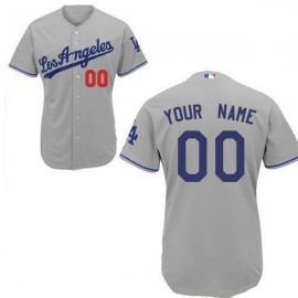 Los Angeles Dodgers Authentic Style  Personalized Road Gray Jersey