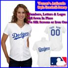 LA  Dodgers Authentic Personalized Women's White Jersey