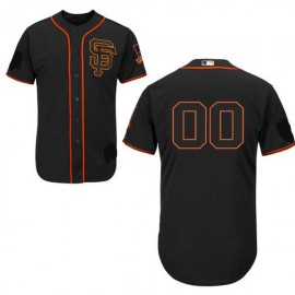 San Francisco Giants 2015 Authentic Style Personalized Alternate Black Jersey