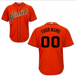 San Francisco Giants Authentic Style Personalized Alternate Orange Jersey