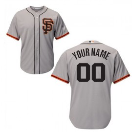 San Francisco Giants Authentic Style Personalized Road 2 Gray Jersey