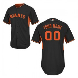San Francisco Giants Authentic Style Personalized BP Black Jersey