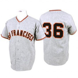 San Francisco Giants Legends Classic Road Gray Jersey Gaylord Perry 36