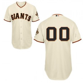 San Francisco Giants Authentic  Style Personalized Home White Jersey