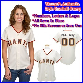 San Francisco Giants Authentic Personalized Women's White Jersey