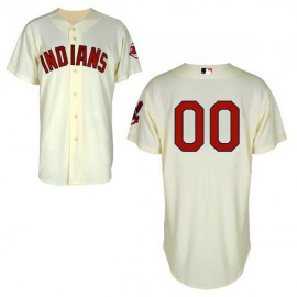 Cleveland Indians Authentic Style Personalized Alternate 2  White Jersey