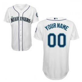 Seattle Mariners 2015 Authentic Style Personalized Home White Jersey