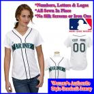 Seattle Mariners Authentic Personalized Women's White Jersey