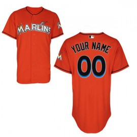 Miami Marlins Authentic Style Personalized Alternate 1 Orange Jersey