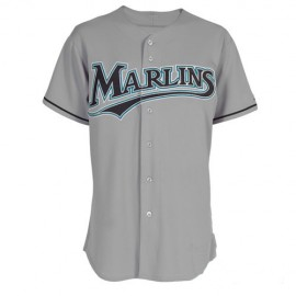 Florida Marlins Authentic Style Gray Classic Road Jersey