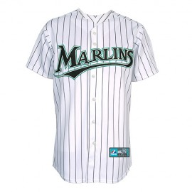 Florida Marlins Home Classic White Pinstriped Jersey